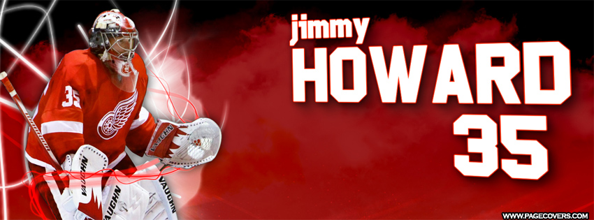 Jimmy Howard Detroit Red Wings Cover 850x315