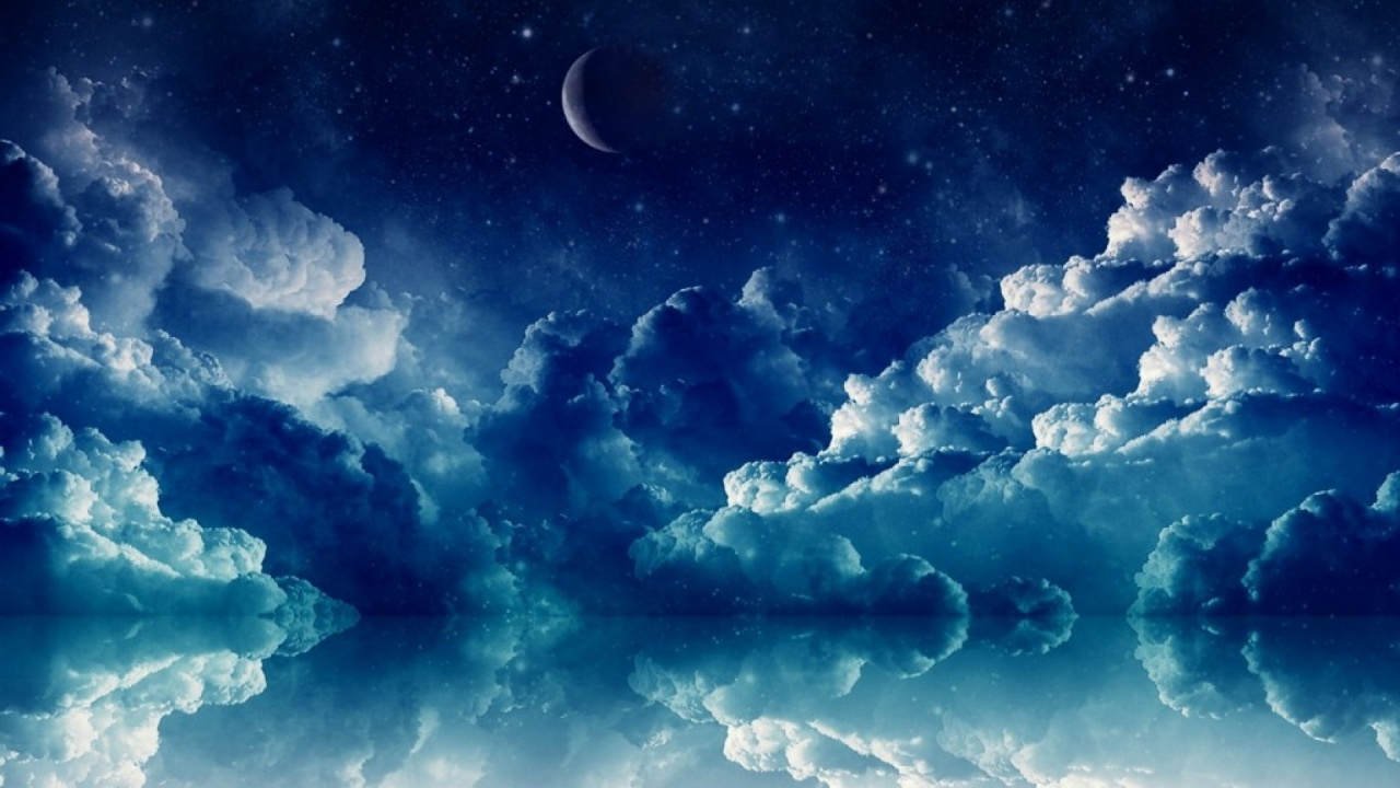 1280x720 Pretty Blue Night desktop PC and Mac wallpaper 1280x720