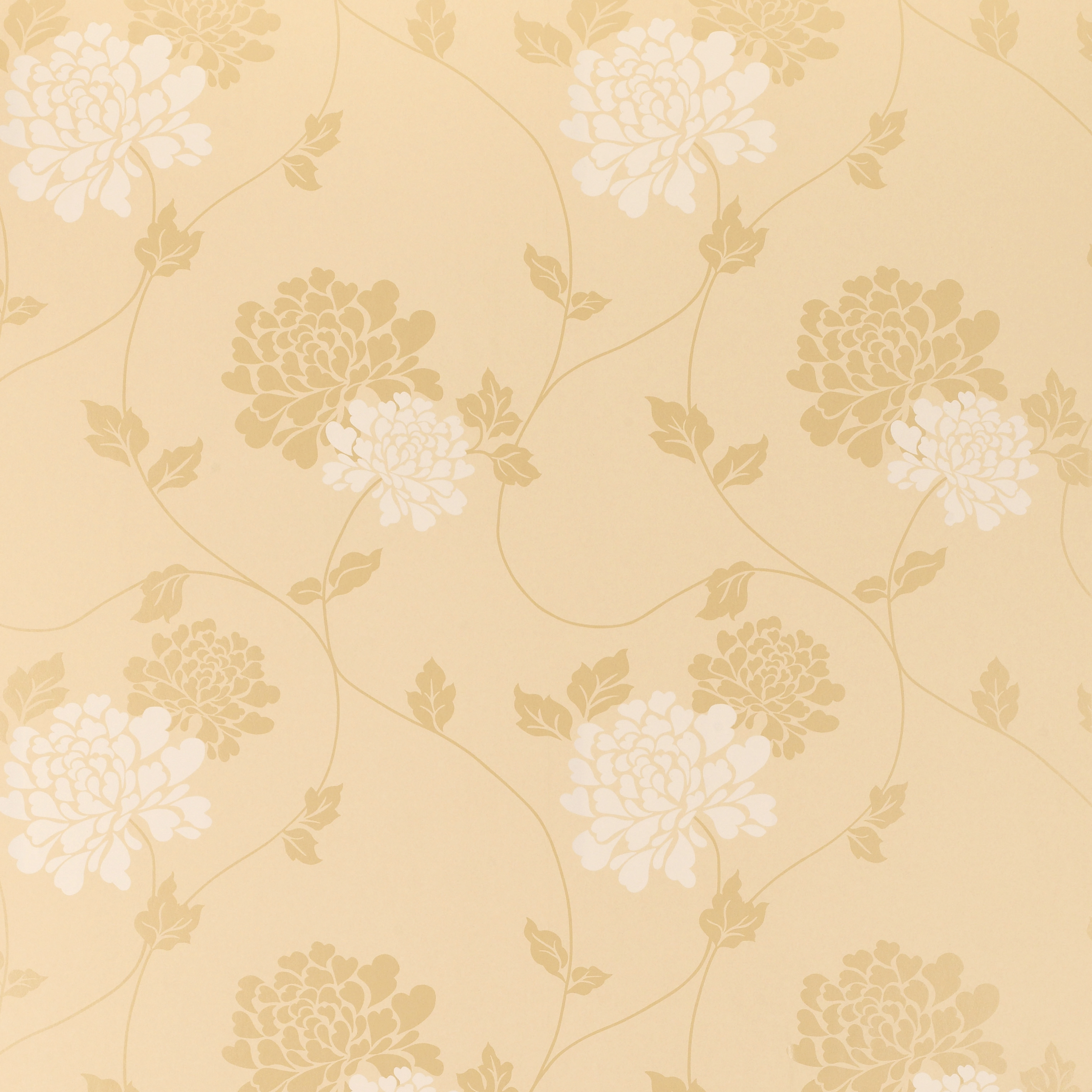 Home Decorating Wallpaper Isodore Gold Floral Wallpaper 2500x2500