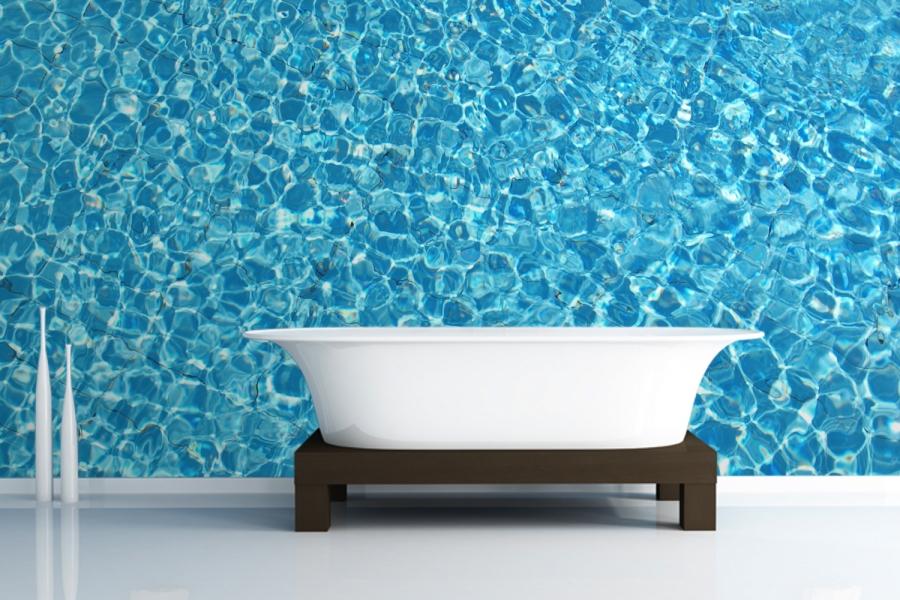 Free Download Ocean Blue Bathroom Wallpaper 900x600 For