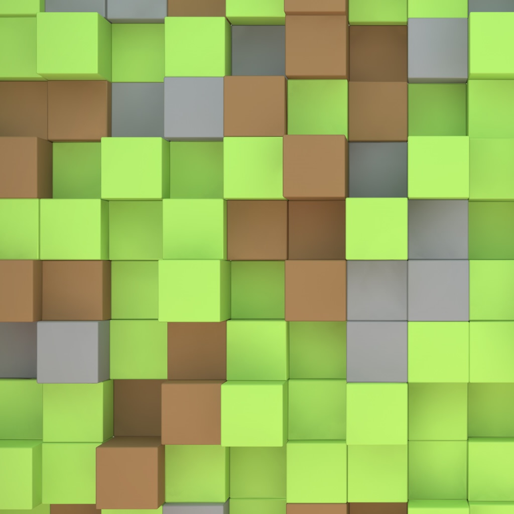 Minecraft Cubes iPad Wallpaper Download iPhone Wallpapers iPad 1024x1024