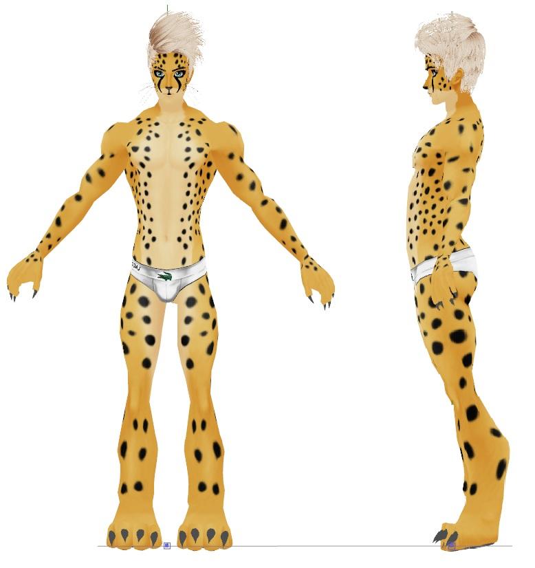 Free download MMD Cheetah Male Furry Base Need Bones by gagataty