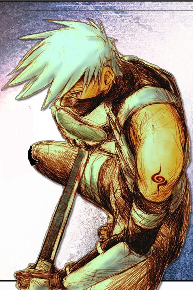 Hokage Hatake Kakashi iPhone 4 Wallpaper and iPhone 4S Wallpaper 640x960