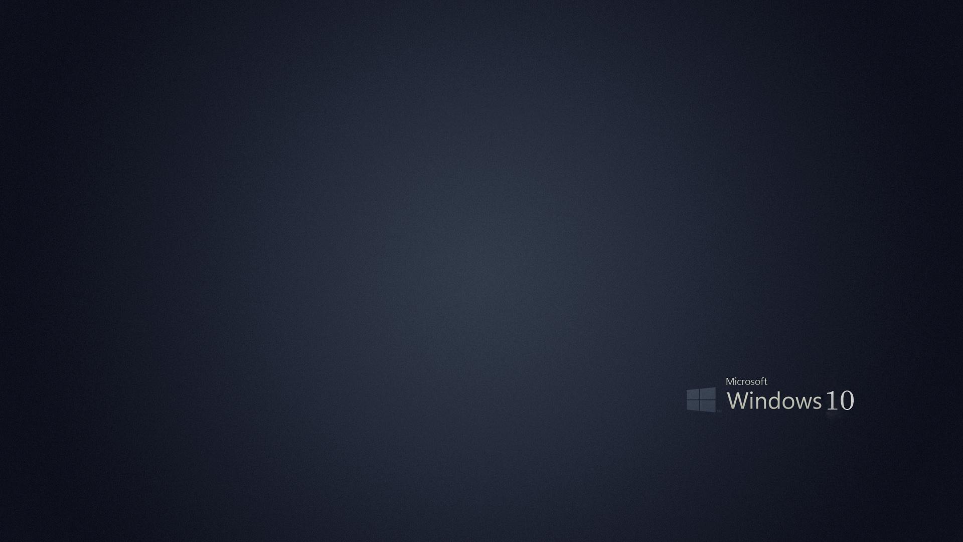 Microsoft Windows 10 Gray Background   1920x1080   387668 1920x1080