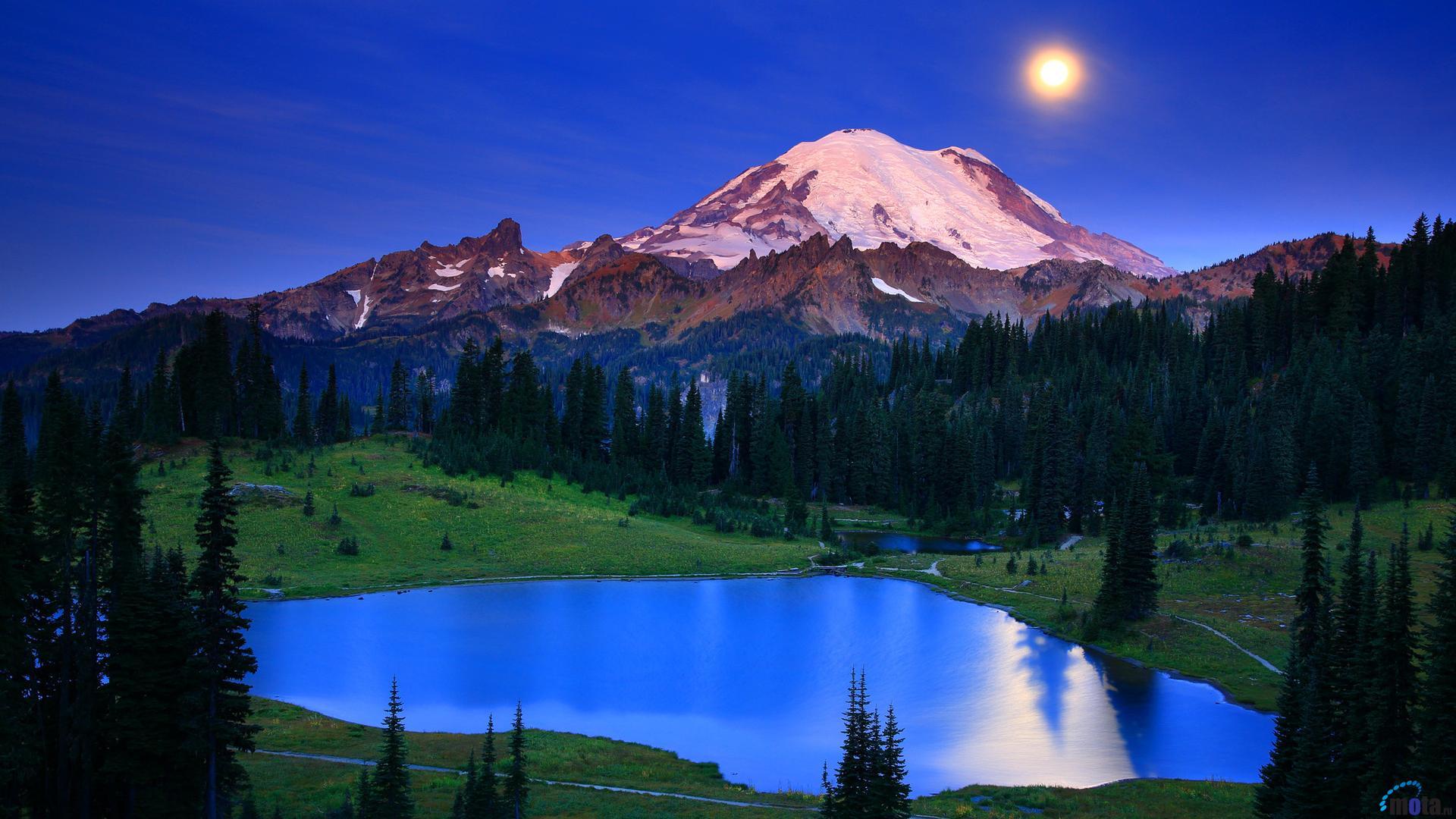 Download Wallpaper Mount Rainier National Park 1920x1080