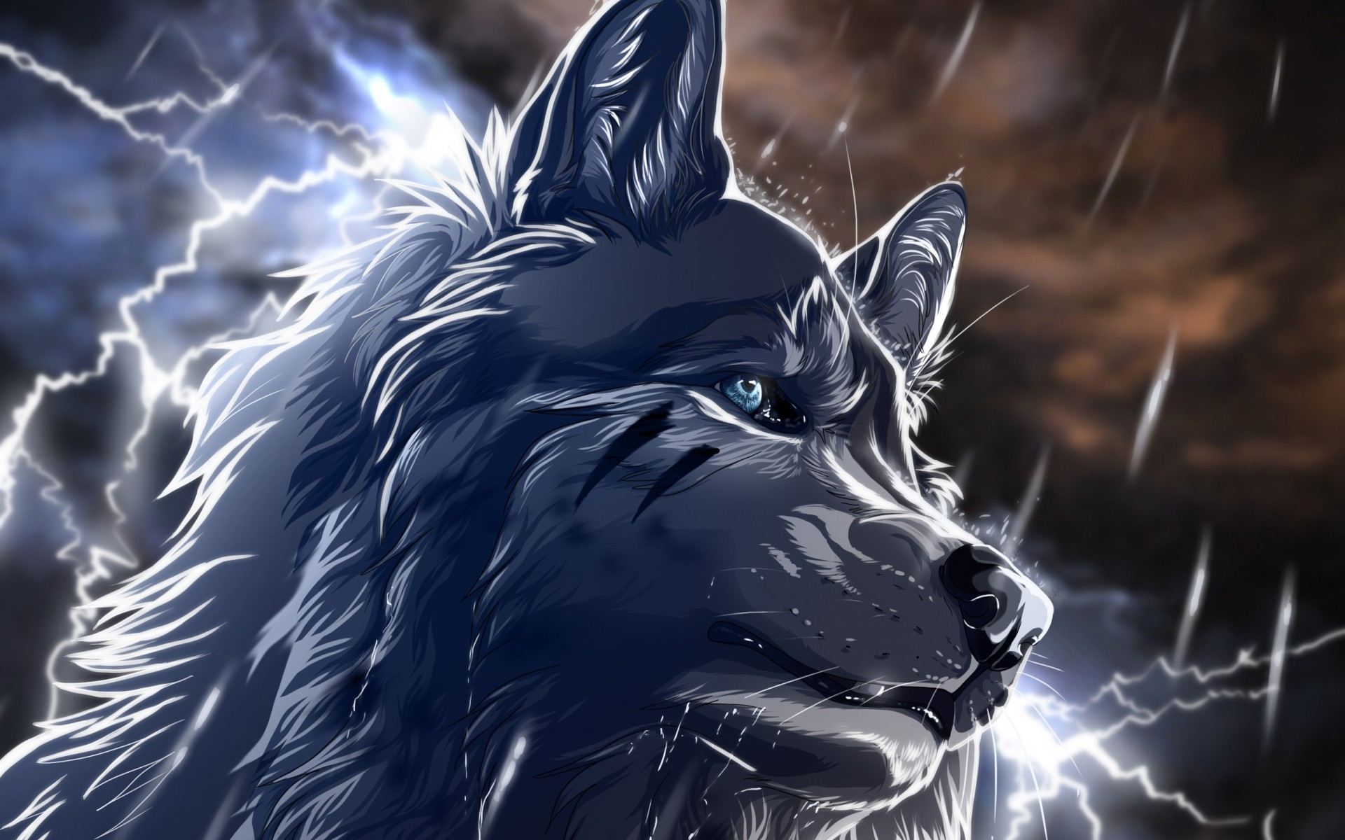 Wolf Art Wallpaper 1920x1200