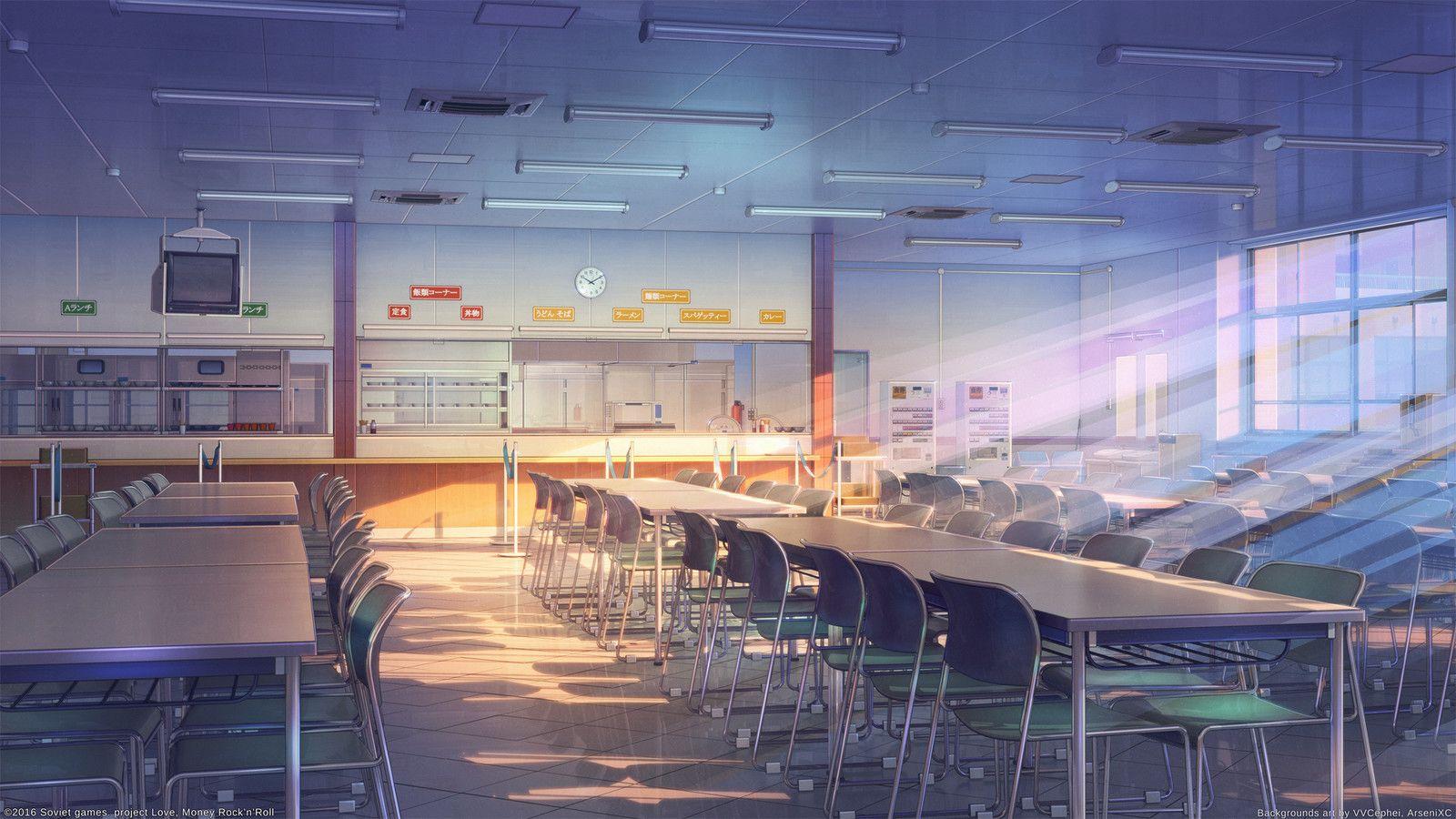 School cafeteria Arseniy Chebynkin on ArtStation at httpswww 1600x900