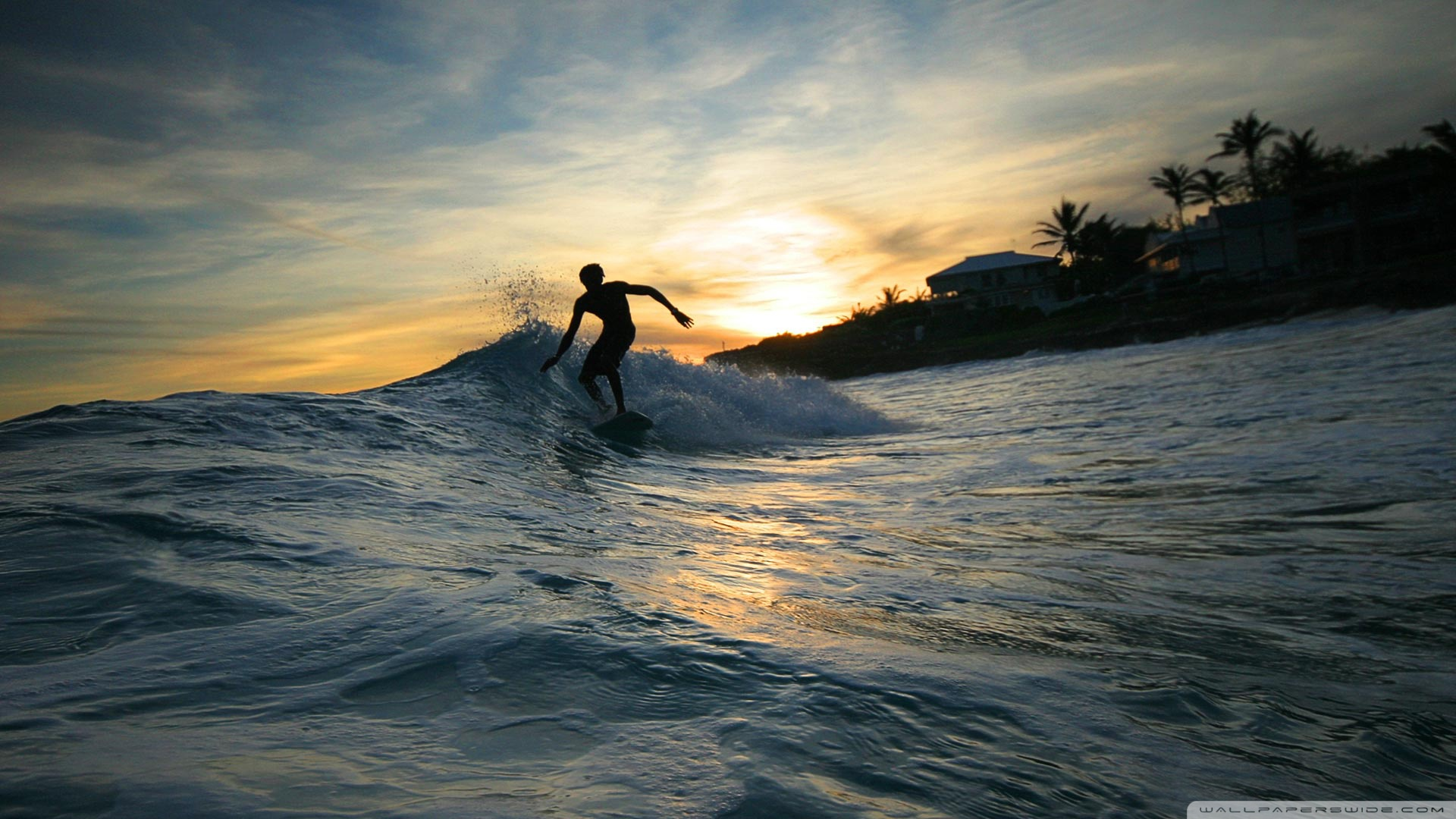 Download Surfer Silhouette Wallpaper 1920x1080 Wallpoper 1920x1080