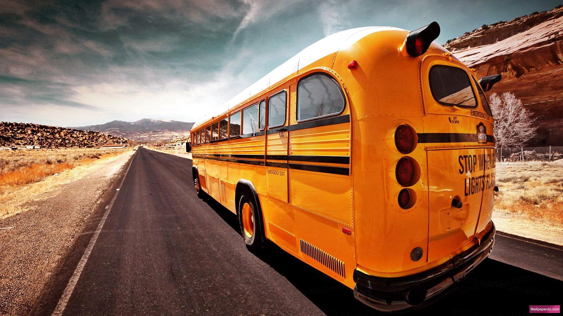 Gallery For gt School Bus Wallpaper 1843x1036