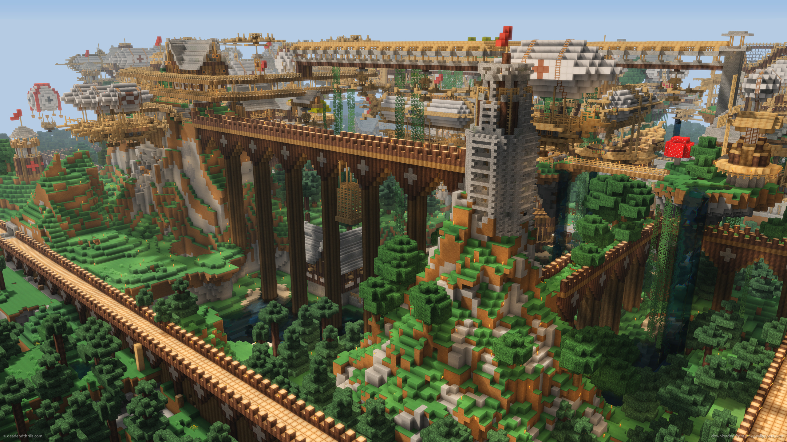 Download 2560x1440 Minecraft Dockland Wallpaper 2560x1440