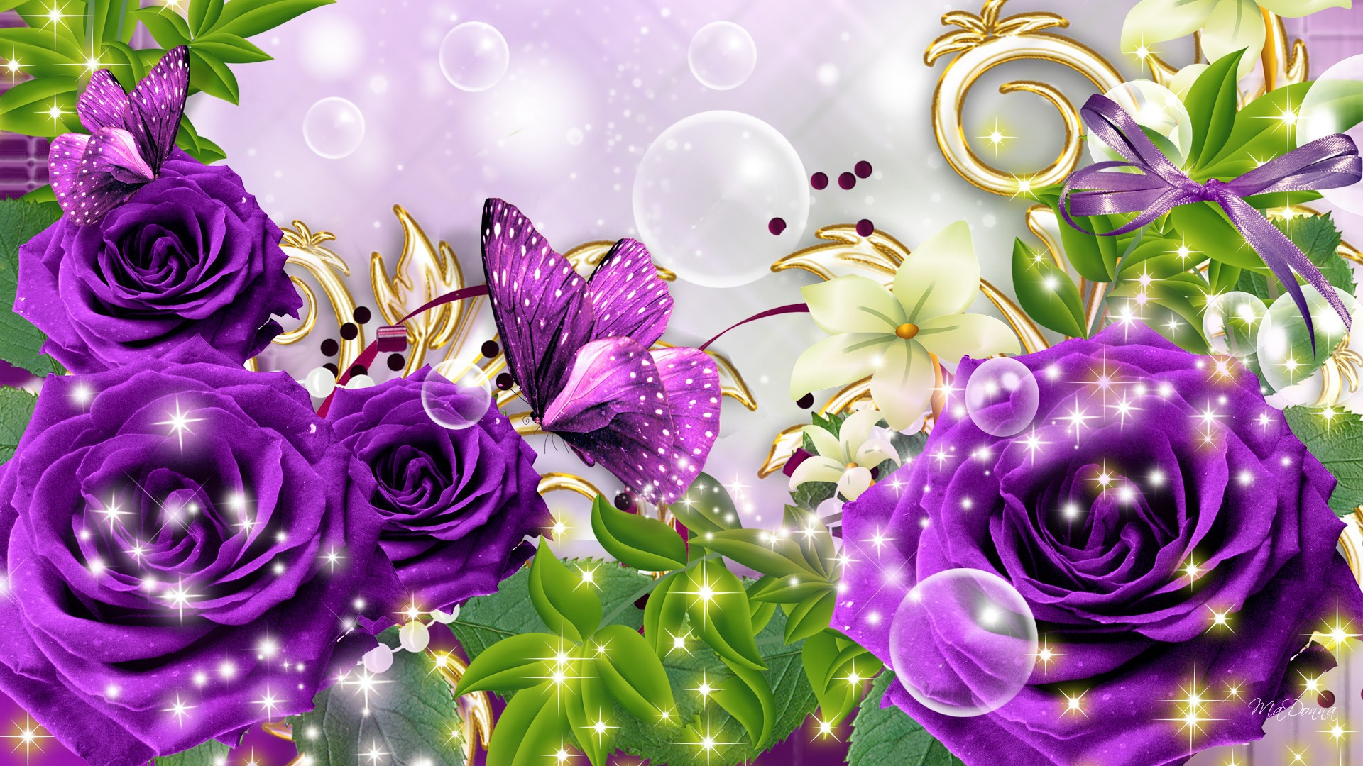 Purple Butterfly Wallpapers Photo at Abstract Monodomo 1920x1080