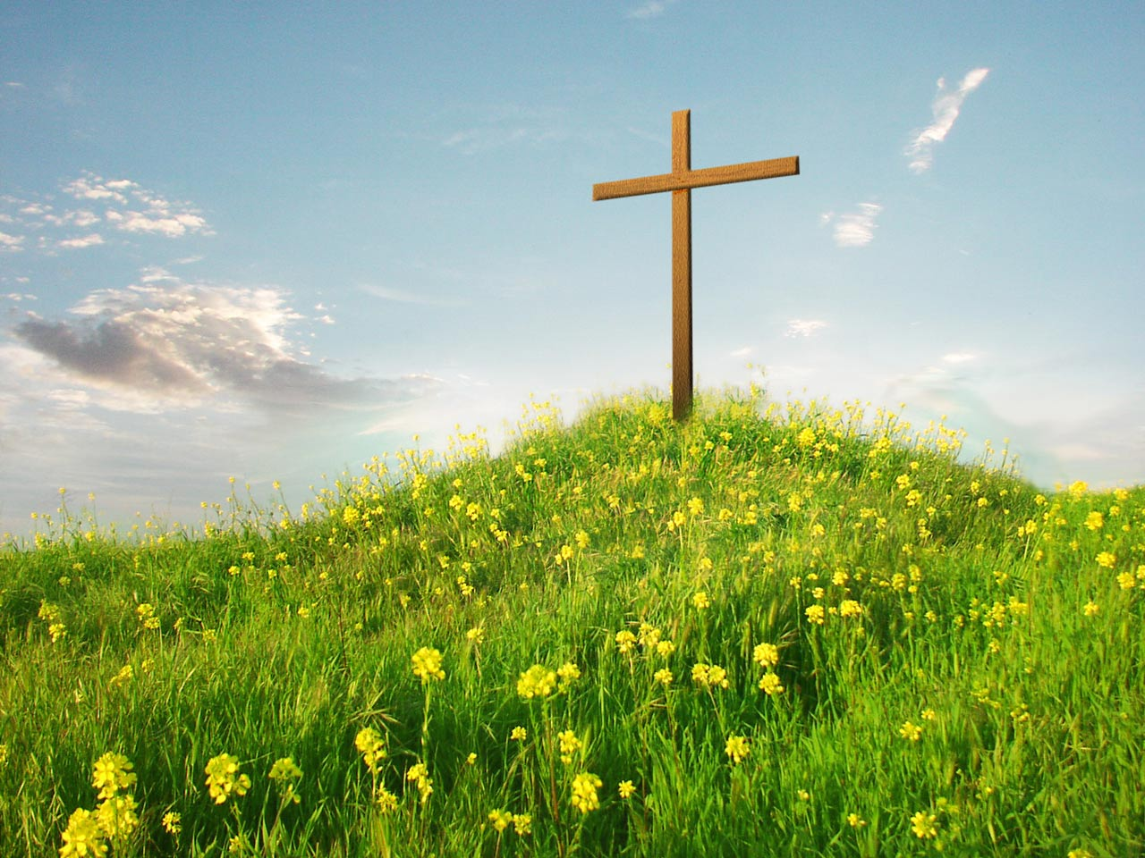 Cross On Hill computer desktop wallpapers pictures images 1280x960
