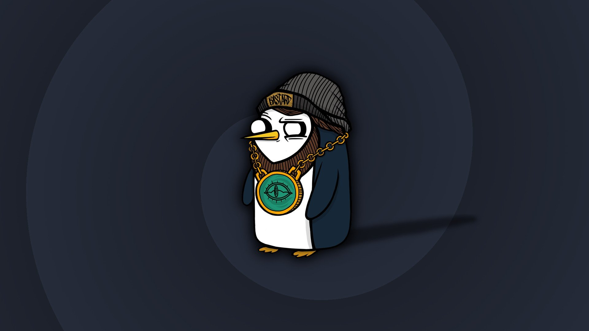 Gunter Penguins Linux Minimalism HD Wallpapers Desktop and 1920x1080