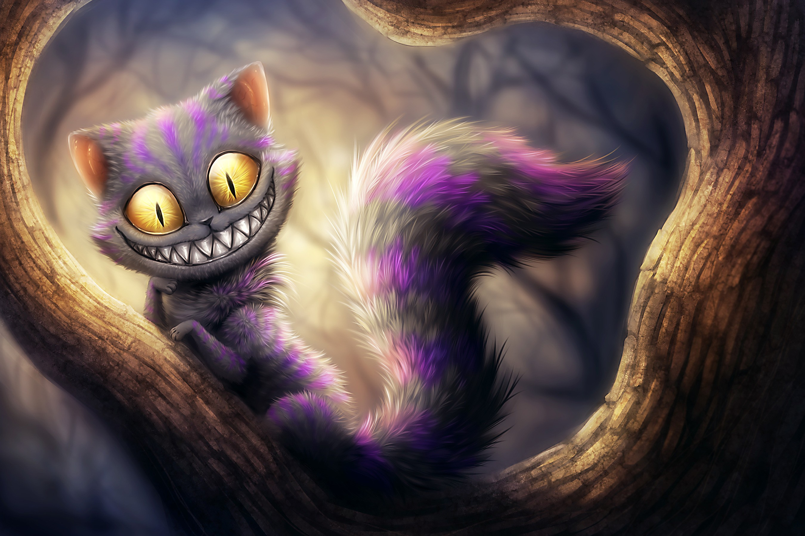 Cats Anime Wallpaper 2700x1800 Cats Anime Cheshire Cat 2700x1800