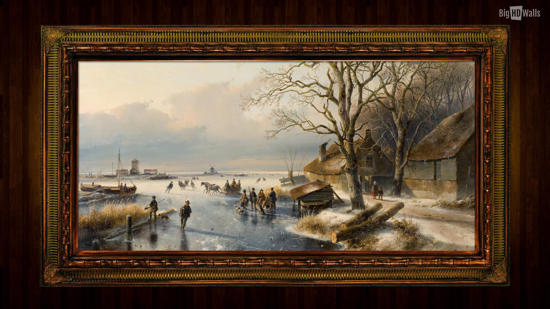 andreas schelfout painting hd wallpaper010 1920x1080