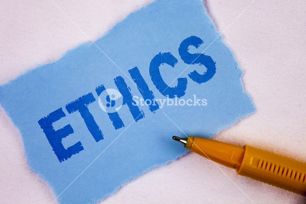 Text sign showing Ethics Conceptual photo Maintaining equality 1000x667