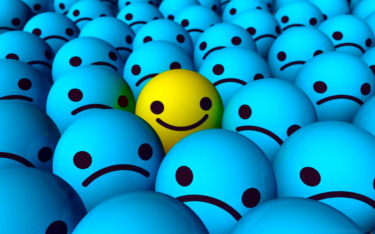 Emo Happy Smiley Wallpaper by Ixionx 1280x800