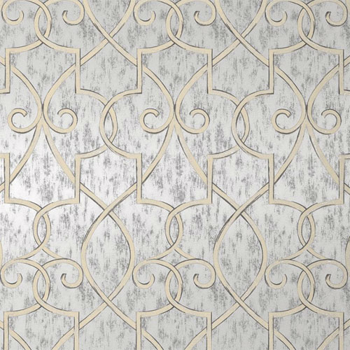 Lattice Wallpaper in Metallic Silver   Geometric Wallpaper   Wallpaper 500x500
