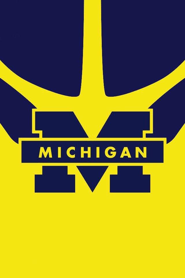 Michigan Football Logo Wallpaper Michigan wolverines iphone 640x960