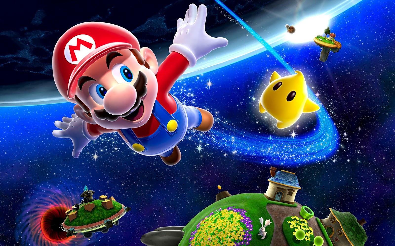 3D Super Mario Galaxy wallpaper Achtergrond Wallpapers 1600x1000