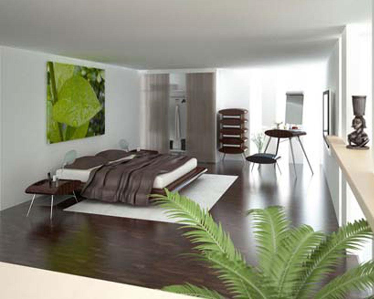 Green Modern Bedroom Wallpaper Design   Decoseecom 1280x1024