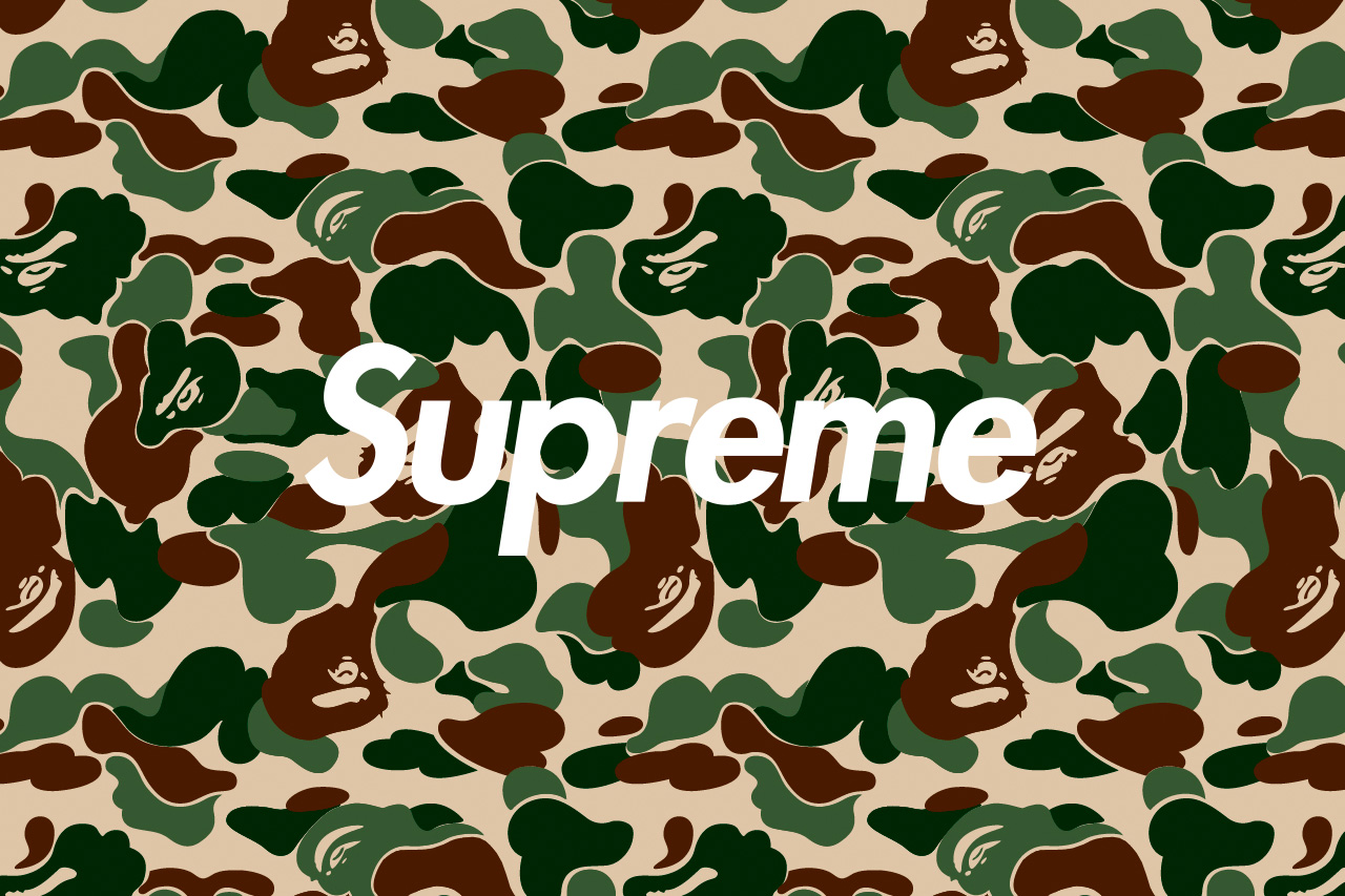 Hypebeast Wallpaper High Quality Resolution   Bape X Supreme Camo 1280x853