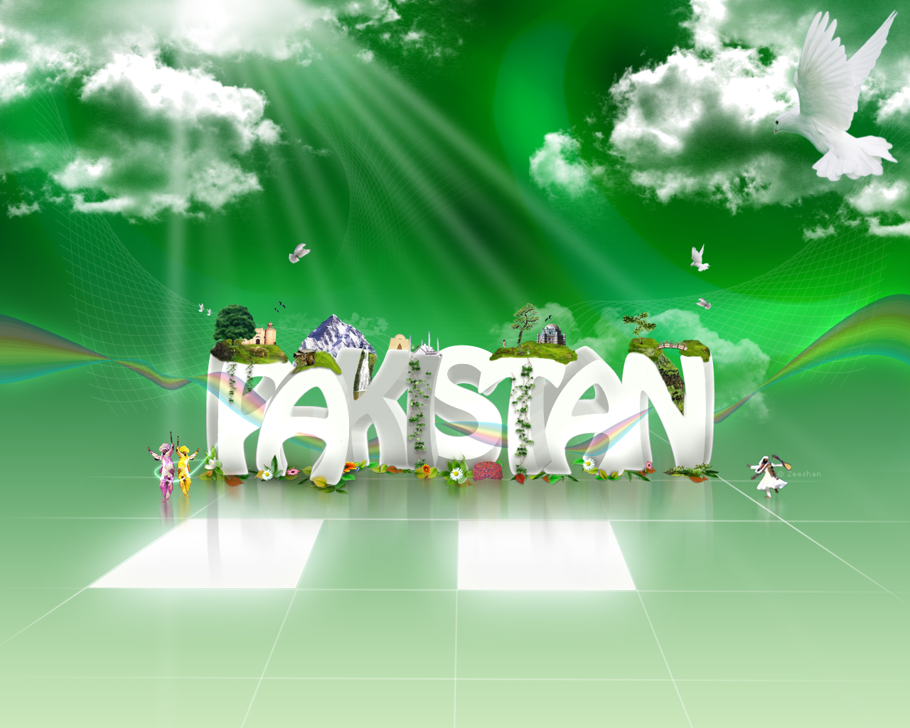 Pakistani Flags Wallpapers   Happy Independence Day   14th August 1280x1024