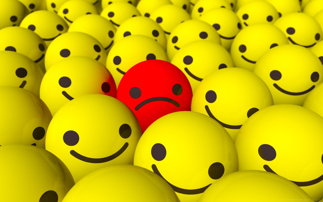 Emo Sad Smiley Wallpaper by Ixionx 1280x800