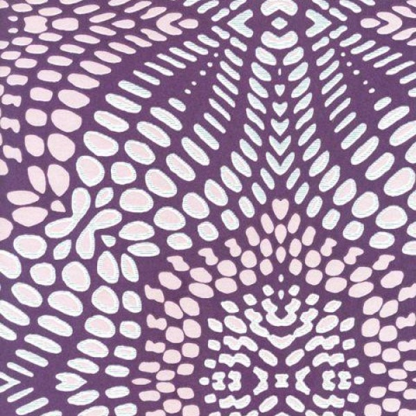 IBERIAN PURPLE FRACTAL GEOMETRIC Wallpaper Warehouse 600x600