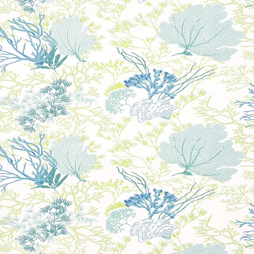 Thibaut Wallpapers   Biscayne   Molokini T5735 Aqua and Green 500x500