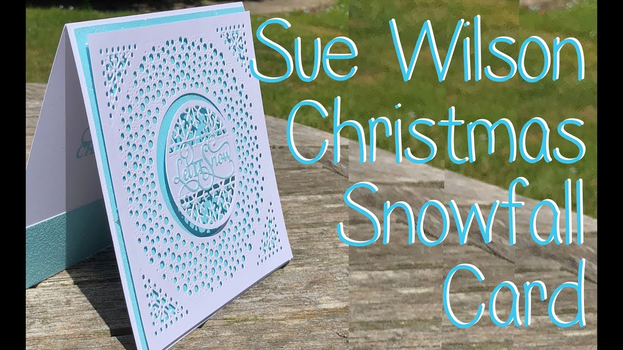 Sue Wilson Festive Collection 18   Snowfall Background Let It Snow 1280x720