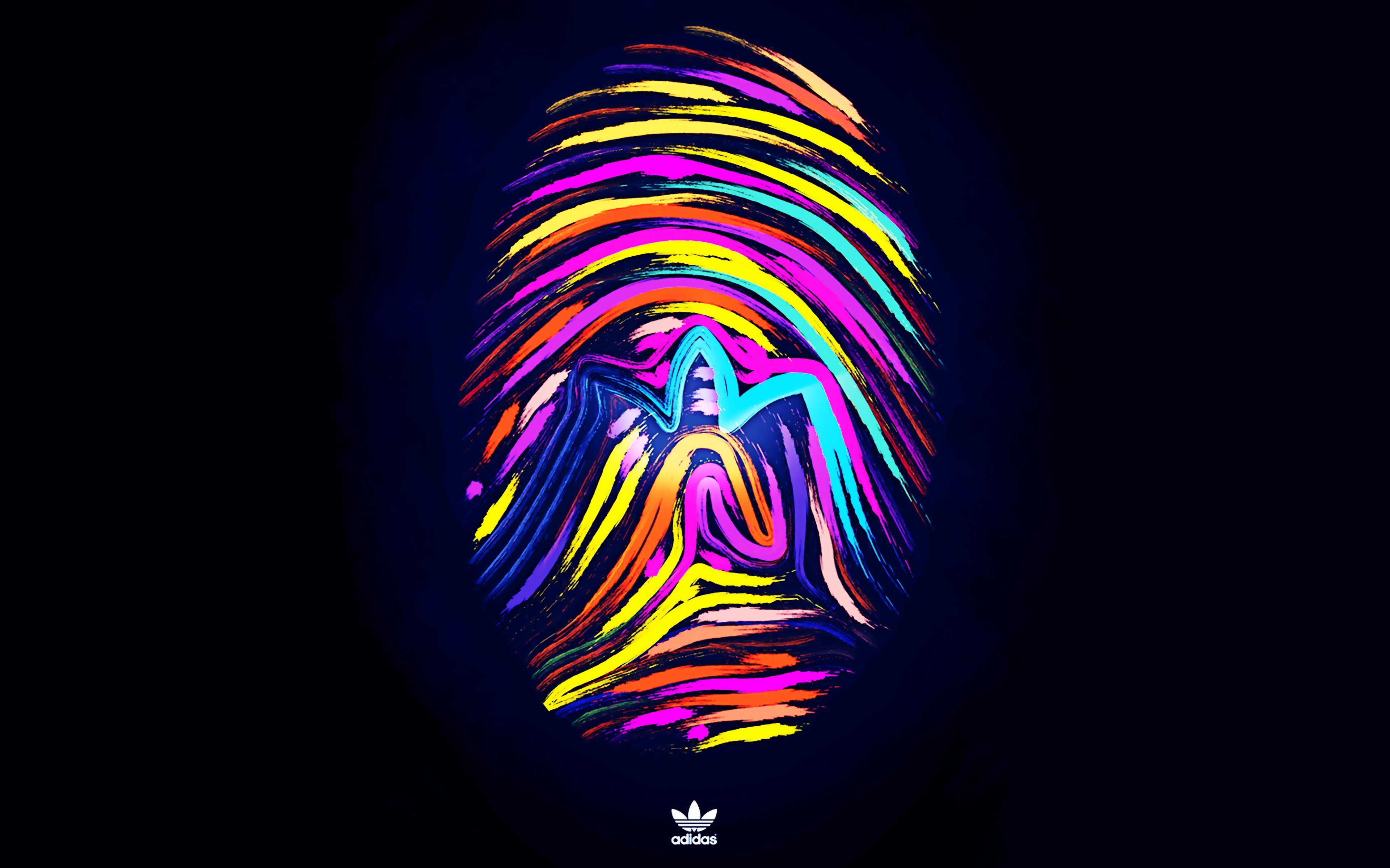 Fingerprints brand make ADIDAS sports background 3840x2400