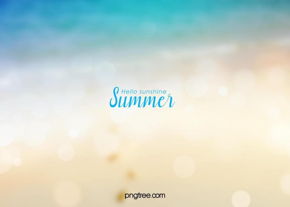 Summer Beach Blurred Halo Background Map Facula Summer Vague 960x686