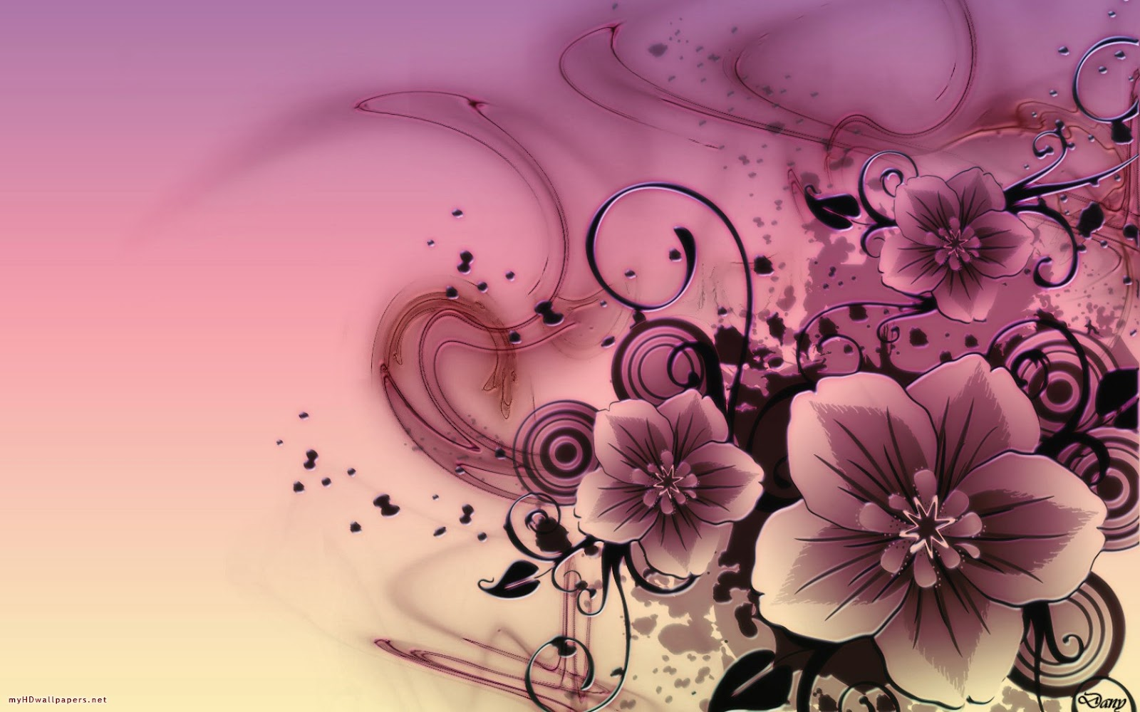 Kinds Of Wallpapers Abstract Flower Wallpaper 1600x1000