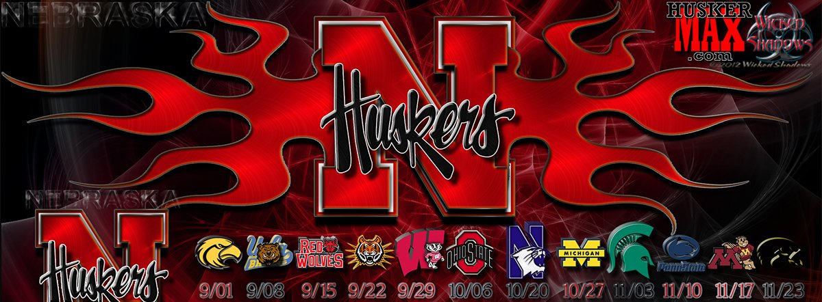 Nebraska Huskers 2012 football schedule wallpaper 1200x442