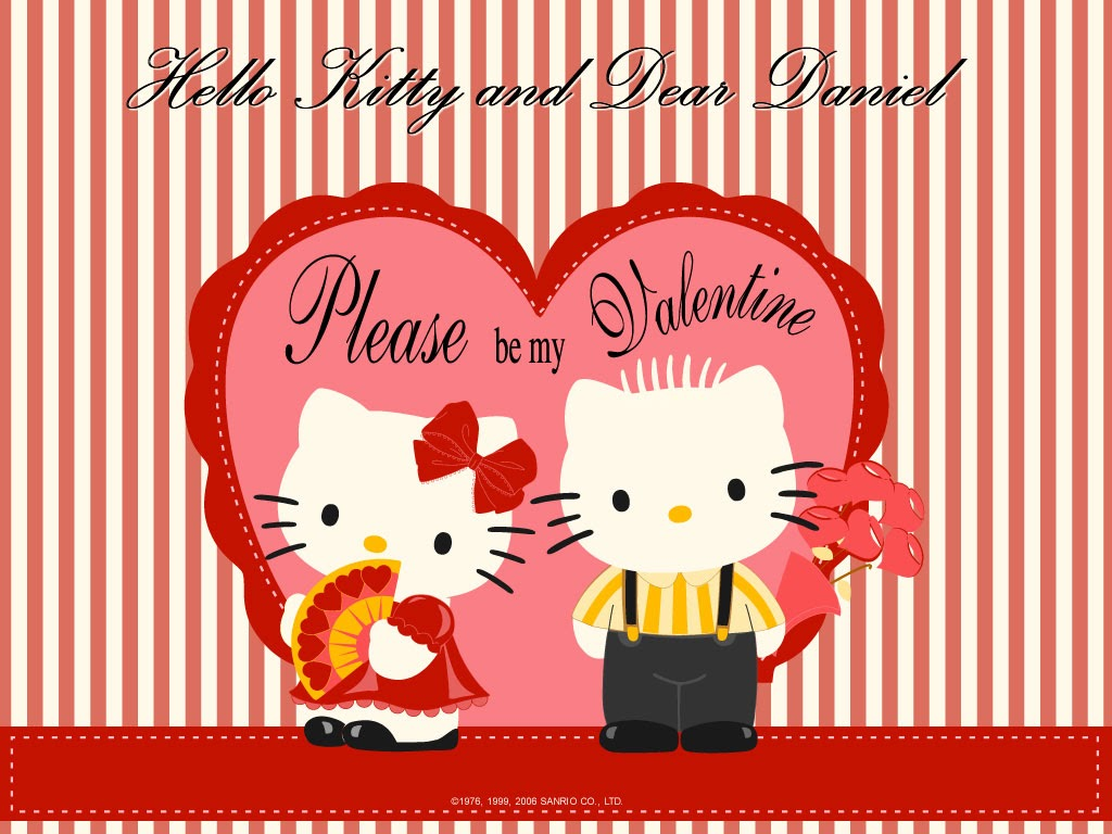 Hello Kitty Valentines Day Wallpaper Wallpaper daniel and hello 1024x768
