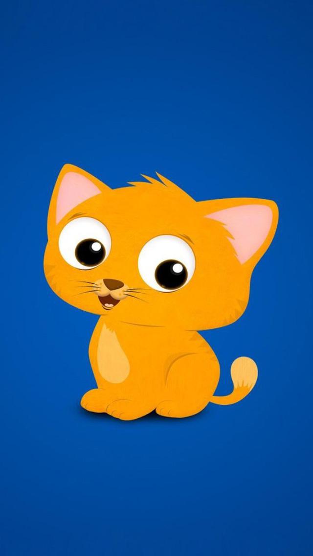 45 Cartoon Cat Wallpaper Download On Wallpapersafari