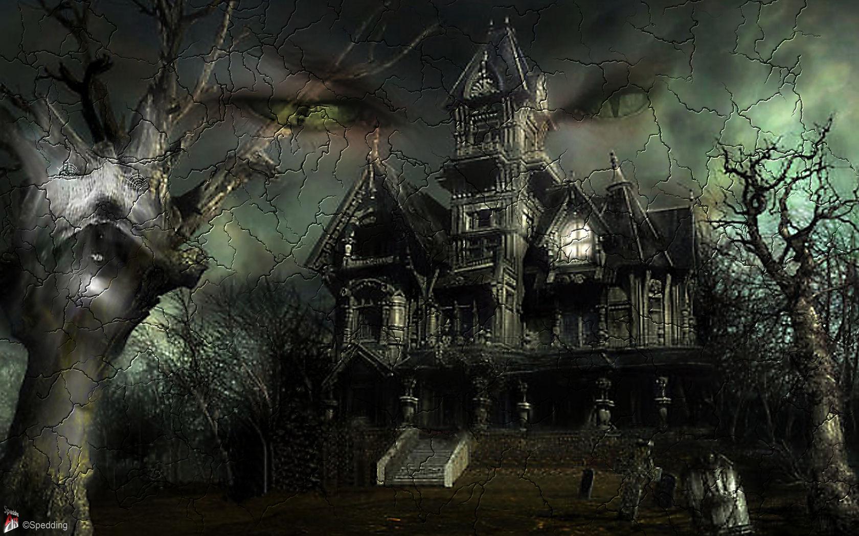 Halloween Spooky Wallpaper.50 Desktop Halloween Scary Wallpaper On Wallpapersafari