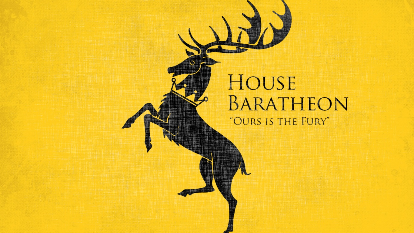 1366x768 Game of Thrones House Baratheon desktop PC and Mac wallpaper 1366x768