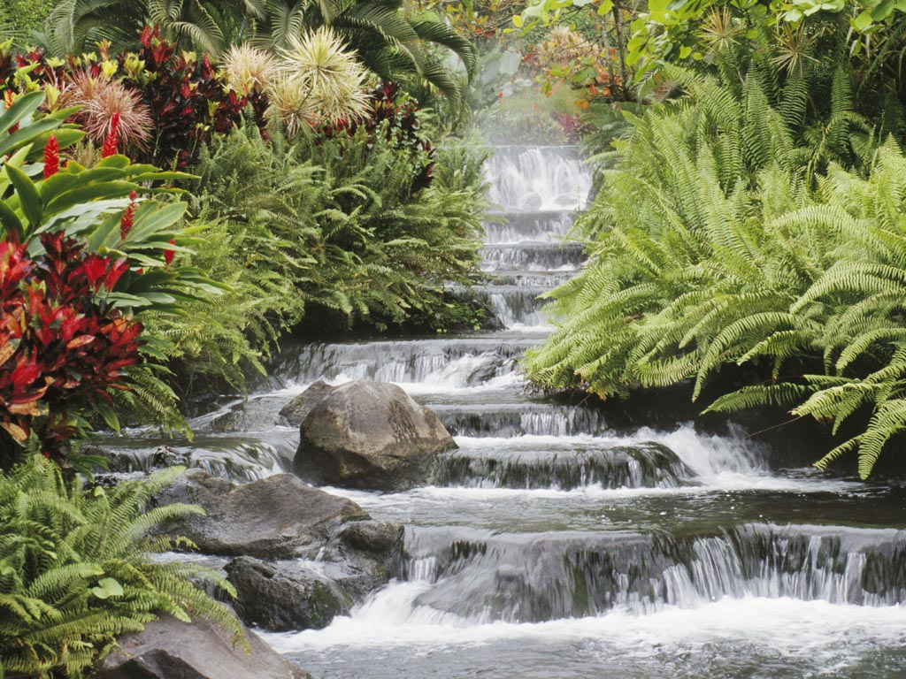 3d waterfalls 3d screensaver nature s 3d nature waterfall 1024x768