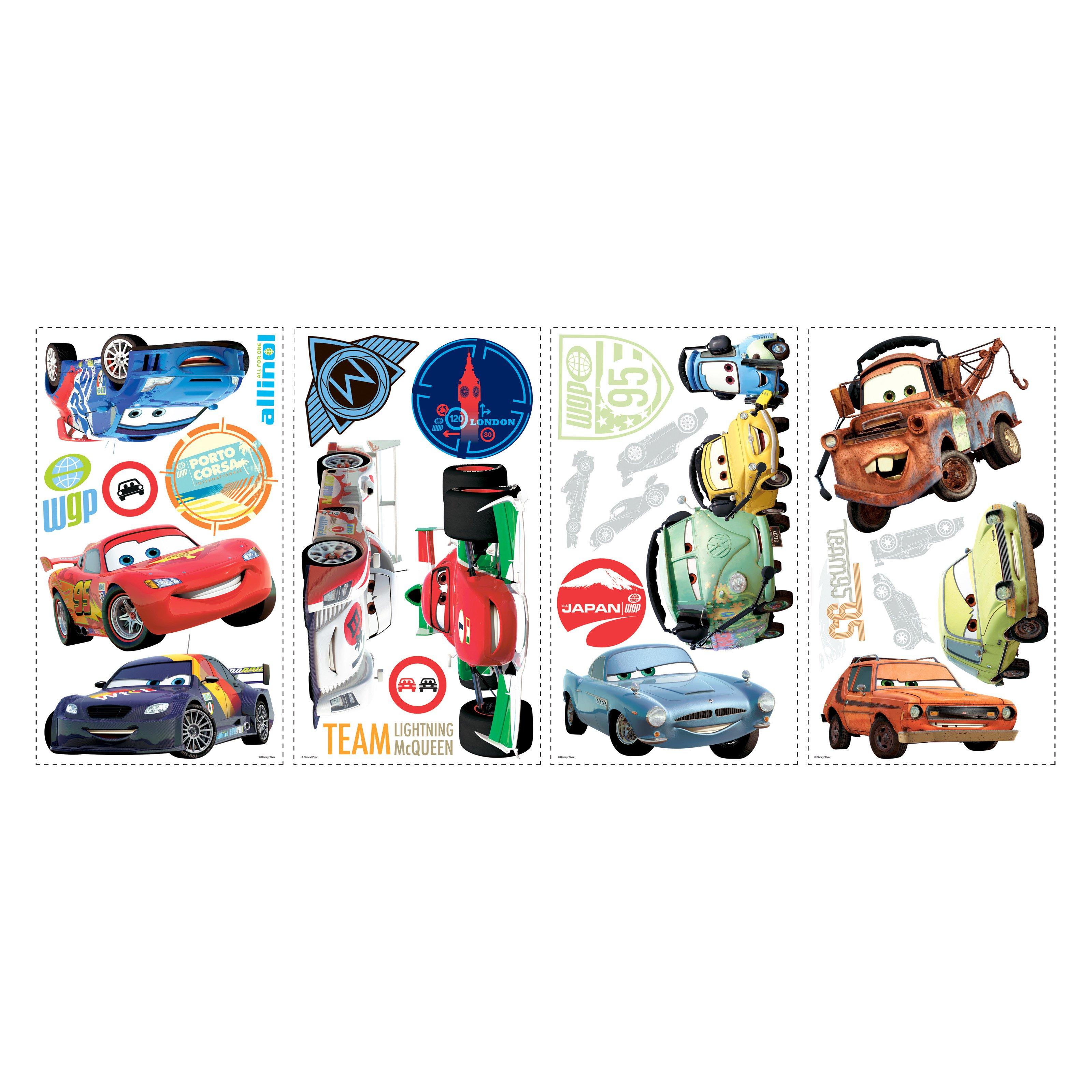 Disney Championship Cars Wallpaper Border Self Adhesive Children Bedroom 19