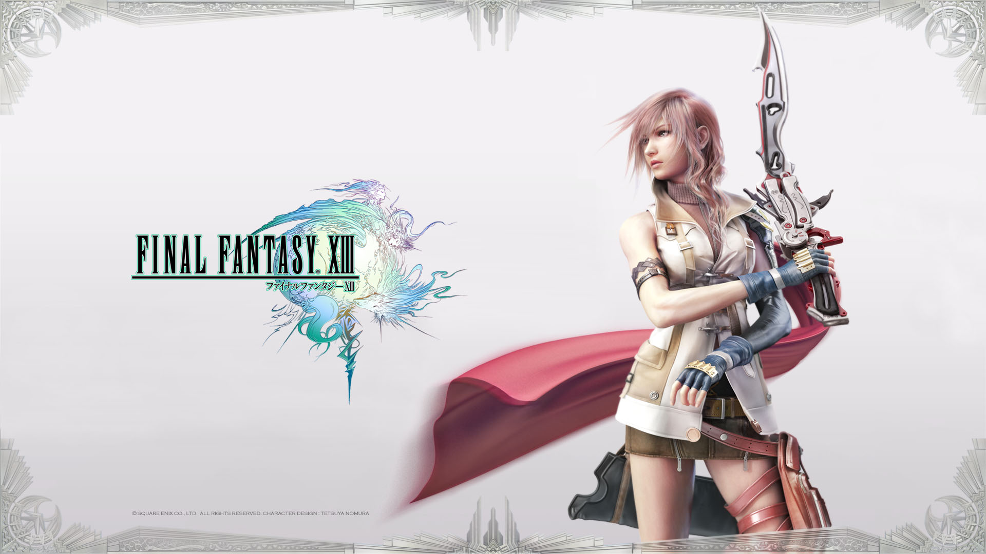 Final Fantasy XIII Lightning Posing Wallpaper Wallpapers 1920x1080