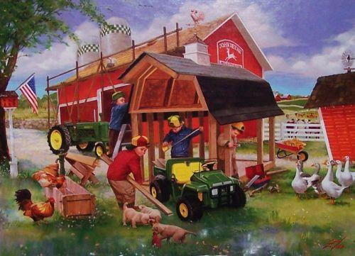 Source Url Picclick Wallpaper Border John Deere Farm 500x361