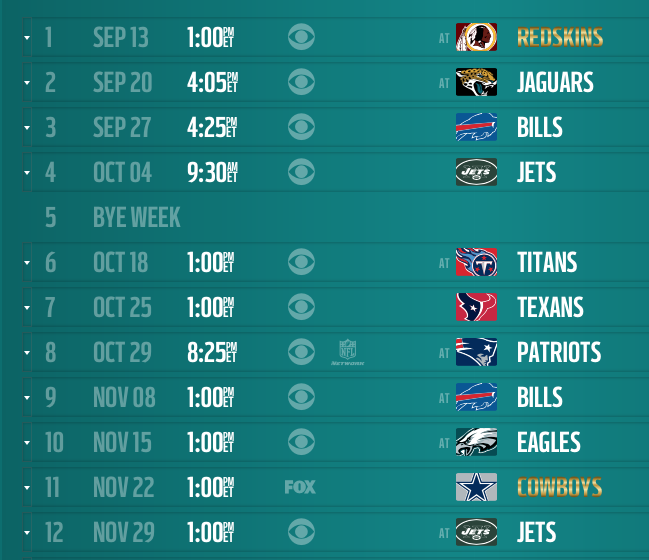 Miami Dolphins 2015 Schedule   Phin Phanatic   A Miami Dolphins Fan 649x560