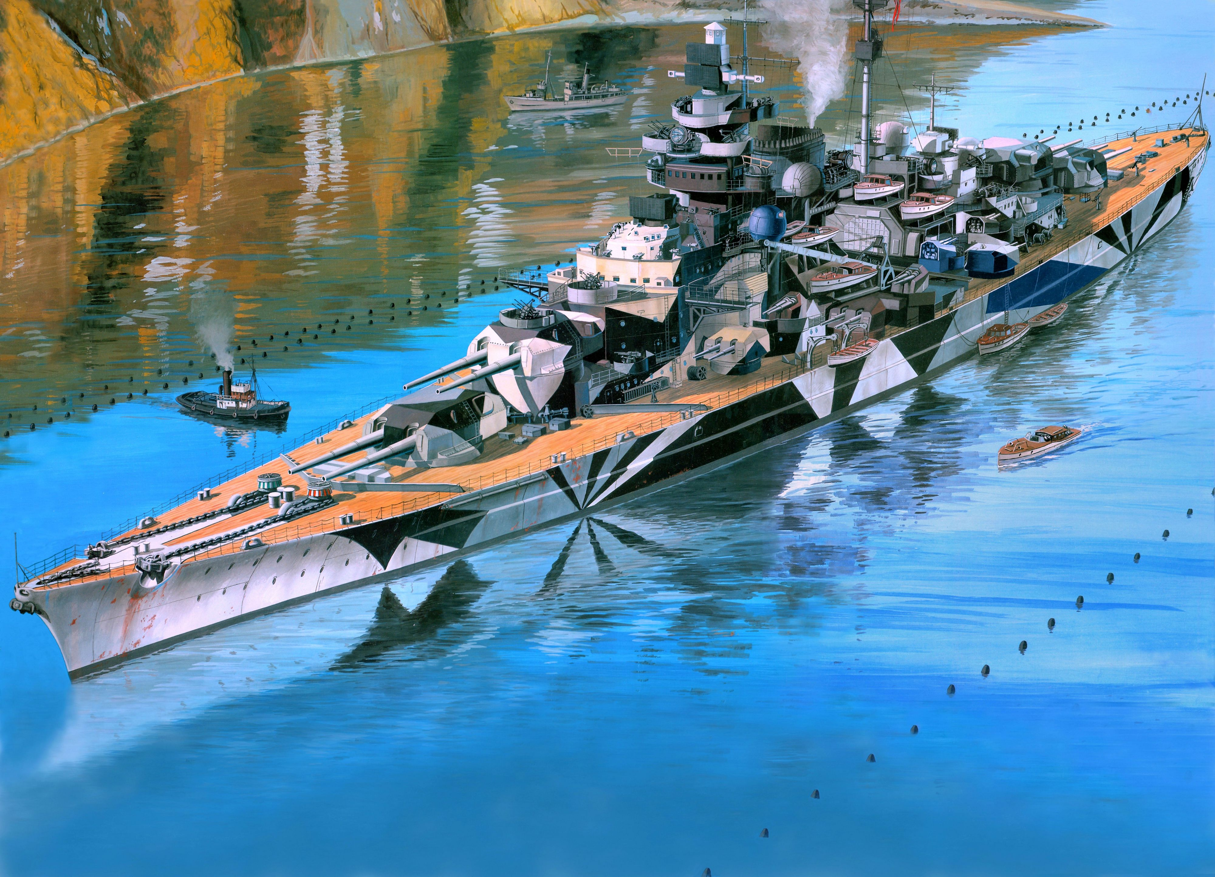 Battleship Tirpitz wallpaper   ForWallpapercom 4000x2888