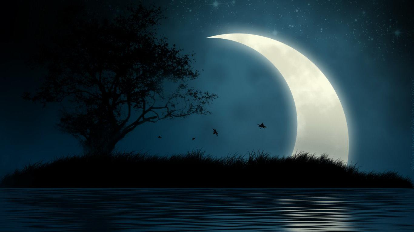 Moon river   135569   High Quality and Resolution Wallpapers on 1366x768