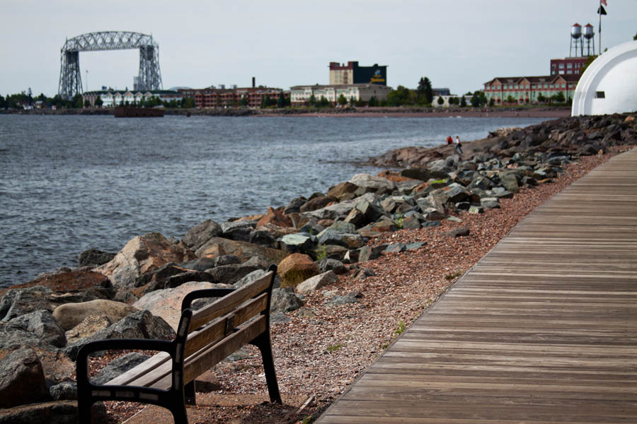 Duluth MN 42 Mile Lake Walk with the Liftbridge in the Background 900x600