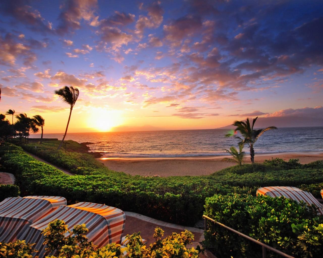 Hawaii Sunset Desktop Backgrounds Related Keywords 1280x1024