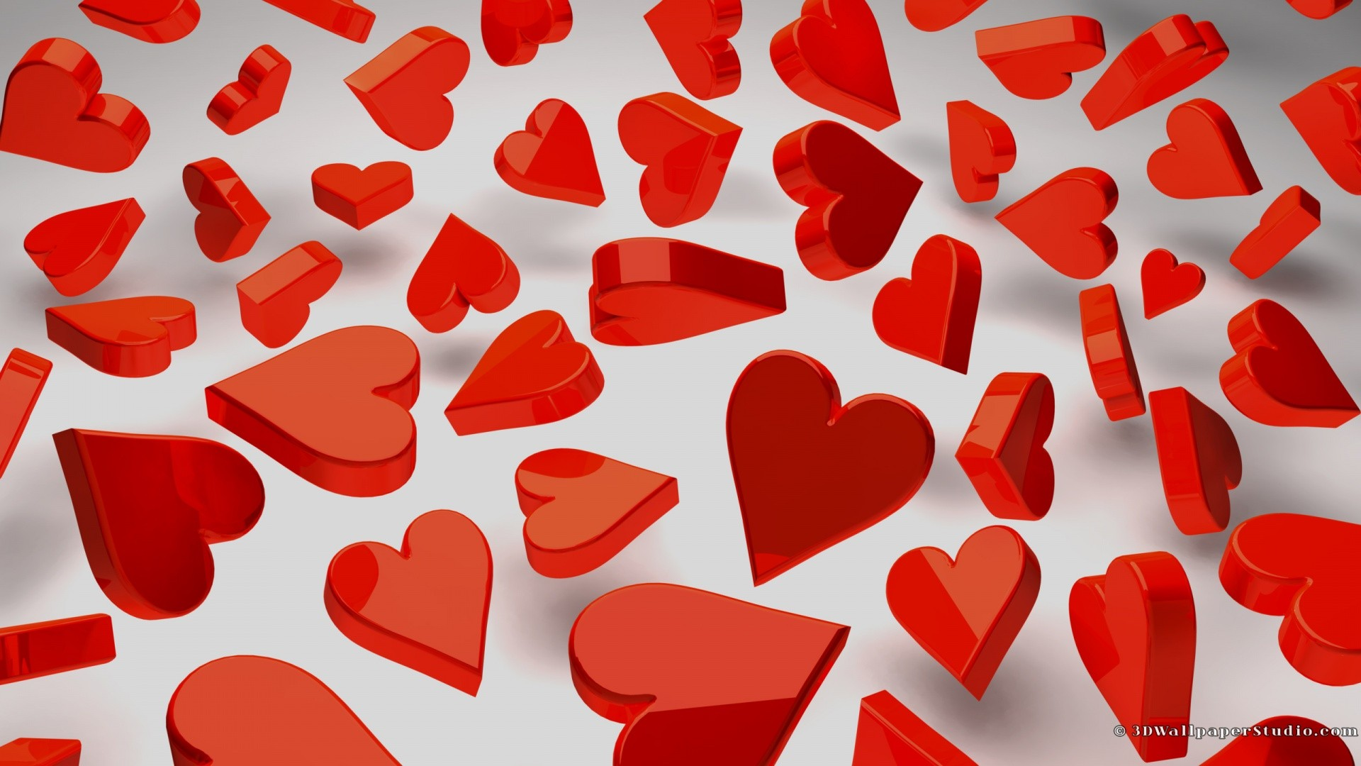 Love Red Wallpaper 1920x1080 Love Red Hearts 1920x1080