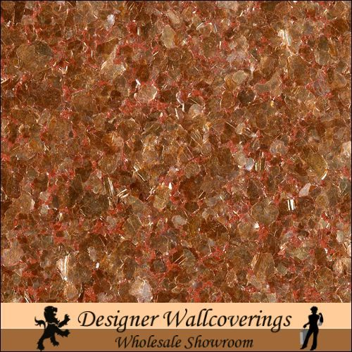 Hiya Mica   Copper [FXX   3215] Designer Wallcoverings 500x500